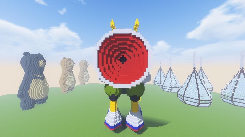 Minecrafterししゃもがマインクラフトでぷっこ村にロビットをモデルにした治安維持ロボットを作る4