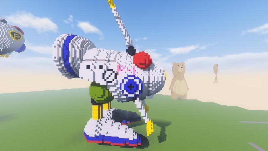 Minecrafterししゃもがマインクラフトでぷっこ村にロビットをモデルにした治安維持ロボットを作る3