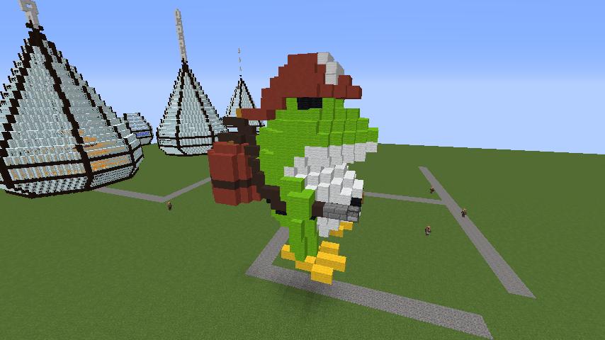 Minecrafterししゃもがマインクラフトで消防職員の訓練を実施する5