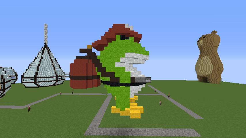 Minecrafterししゃもがマインクラフトで消防職員の訓練を実施する6