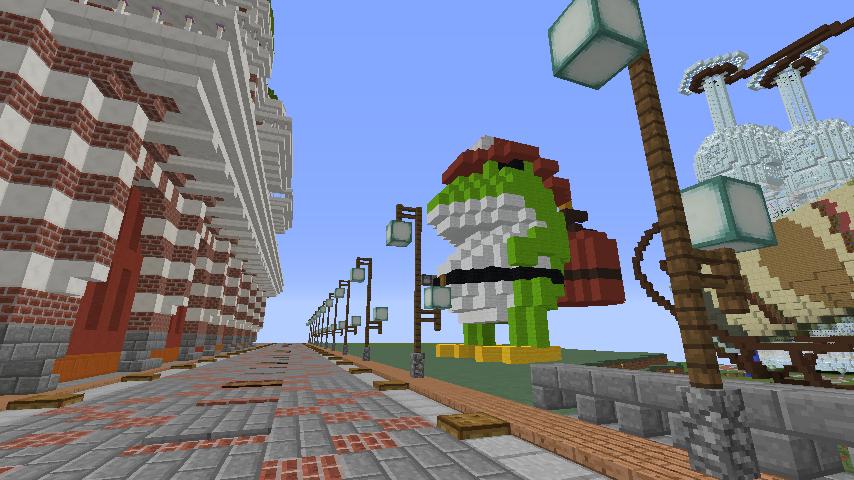 Minecrafterししゃもがマインクラフトで消防職員の訓練を実施する11
