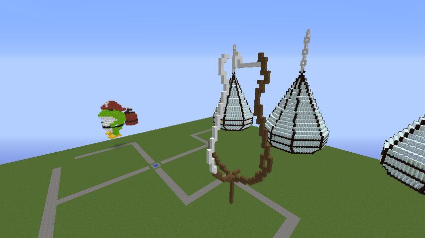 Minecrafterししゃもがマインクラフトでぷっこ村にお金の神様の像を建築する1