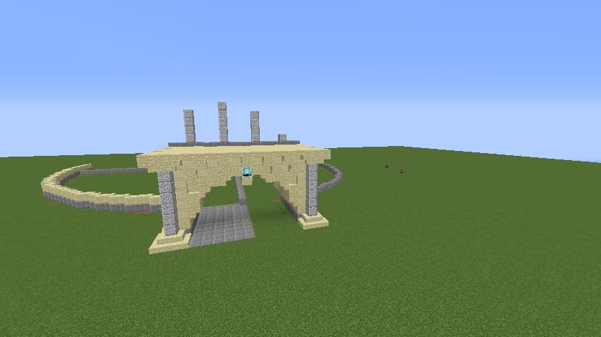Minecrafterししゃもがマインクラフトでぷっこ村にトロカデロ宮殿をモデルにした博物館を建築する1