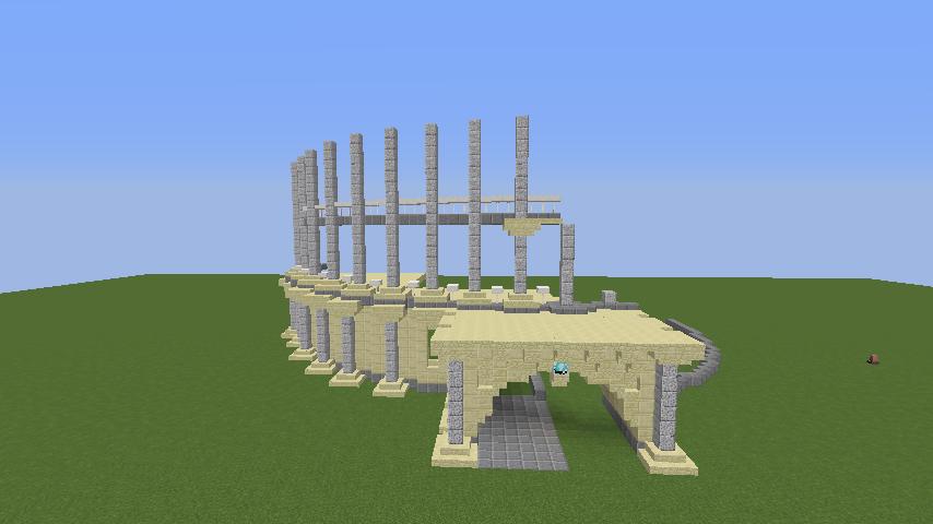 Minecrafterししゃもがマインクラフトでぷっこ村にトロカデロ宮殿をモデルにした博物館を建築する2
