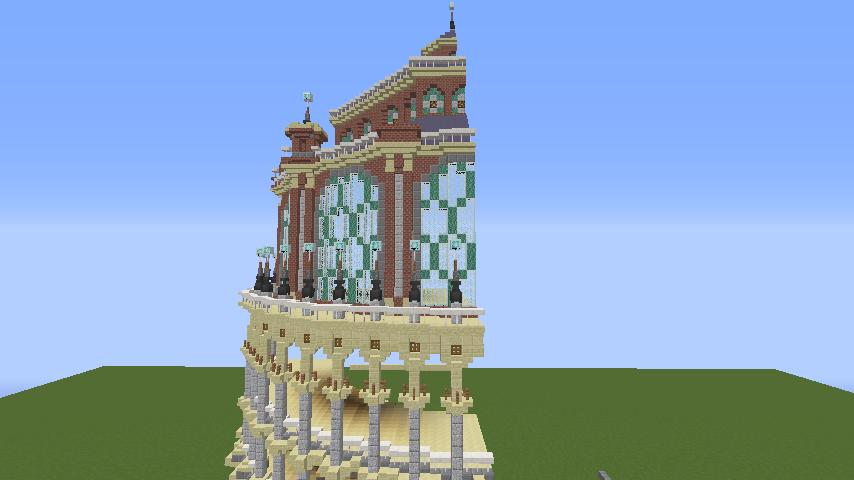 Minecrafterししゃもがマインクラフトでぷっこ村にトロカデロ宮殿をモデルにした博物館を建築する4