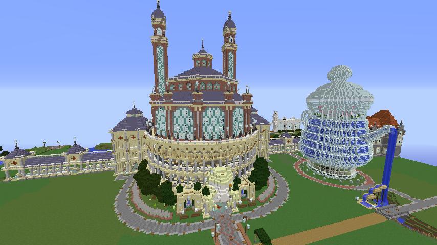 Minecrafterししゃもがマインクラフトでぷっこ村に作った博物館がオープンする5