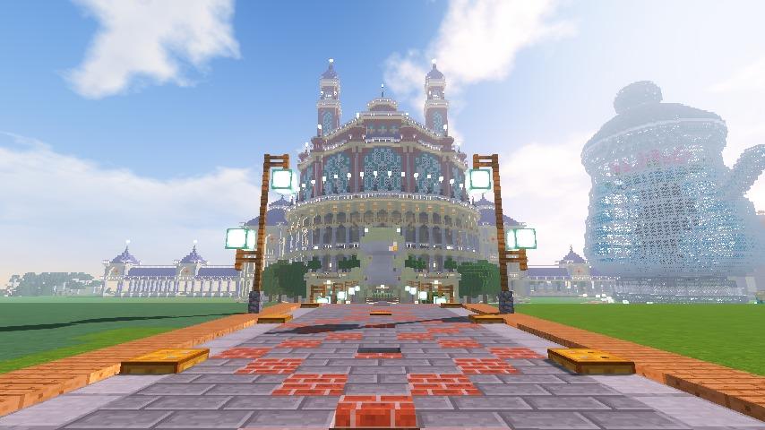 Minecrafterししゃもがマインクラフトでぷっこ村に作った博物館がオープンする7
