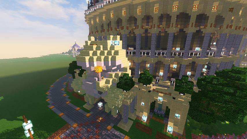 Minecrafterししゃもがマインクラフトでぷっこ村に作った博物館がオープンする6