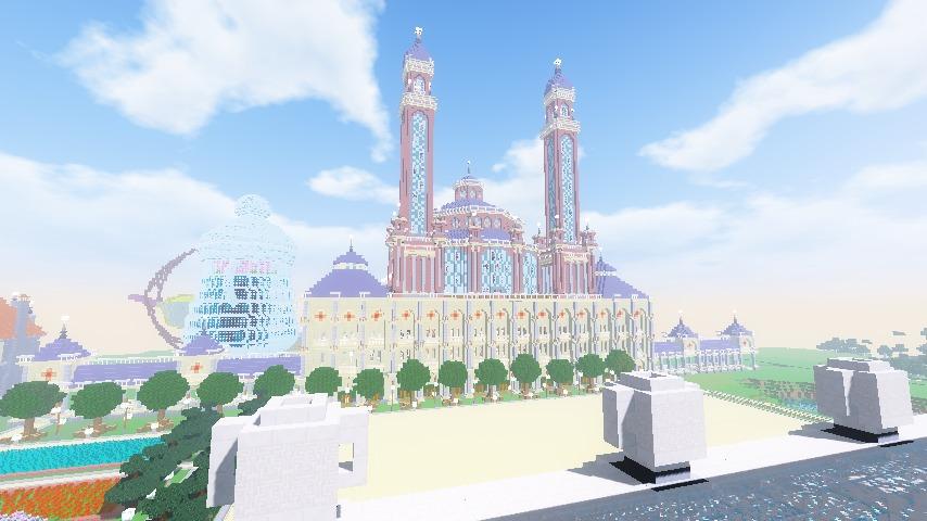 Minecrafterししゃもがマインクラフトでぷっこ村に作った博物館がオープンする9