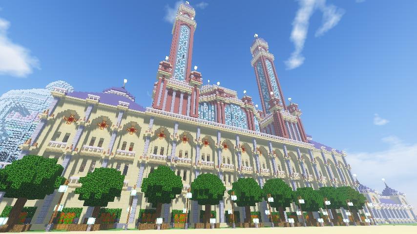 Minecrafterししゃもがマインクラフトでぷっこ村に作った博物館がオープンする10