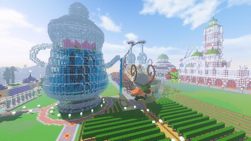 Minecrafterししゃもがマインクラフトでぷっこ村にワイナリーを建築する13