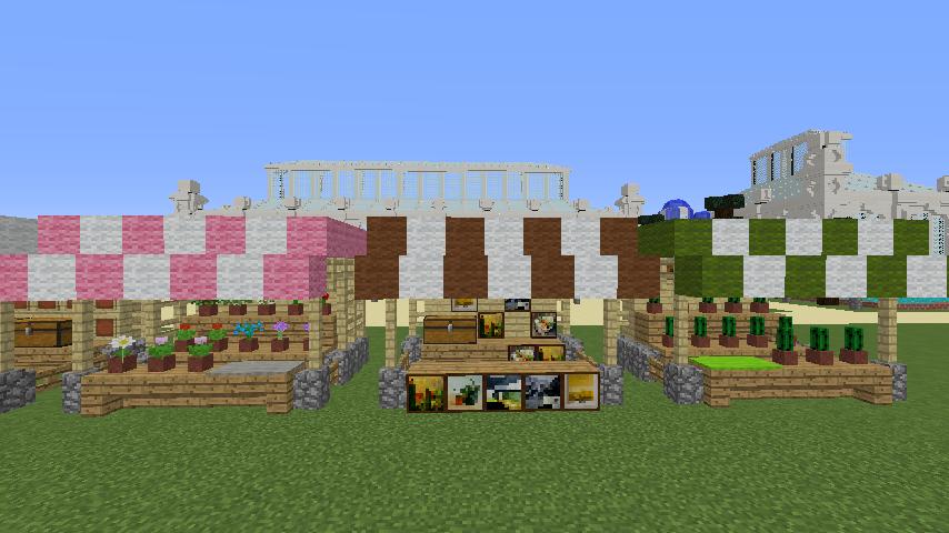 Minecrafterししゃもがマインクラフトでぷっこ村蚤の市の設営をお手伝いする10