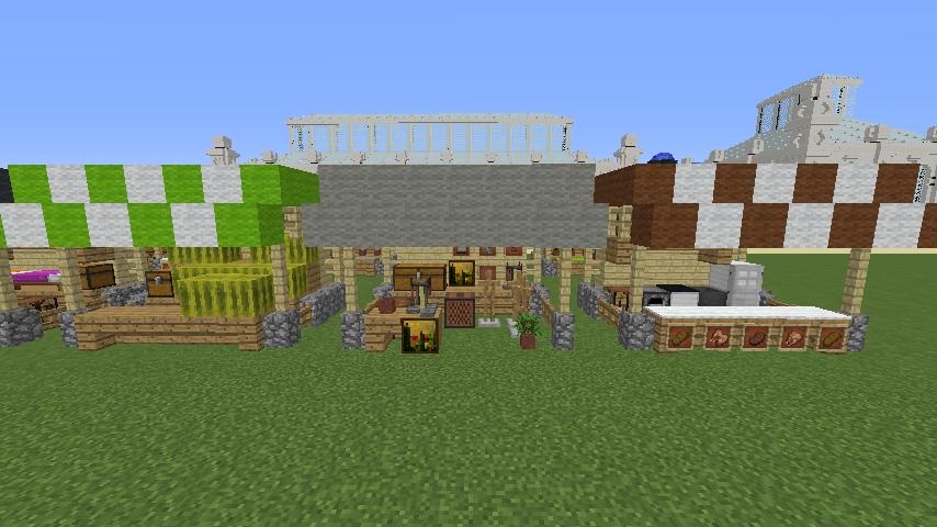 Minecrafterししゃもがマインクラフトでぷっこ村蚤の市の設営をお手伝いする8