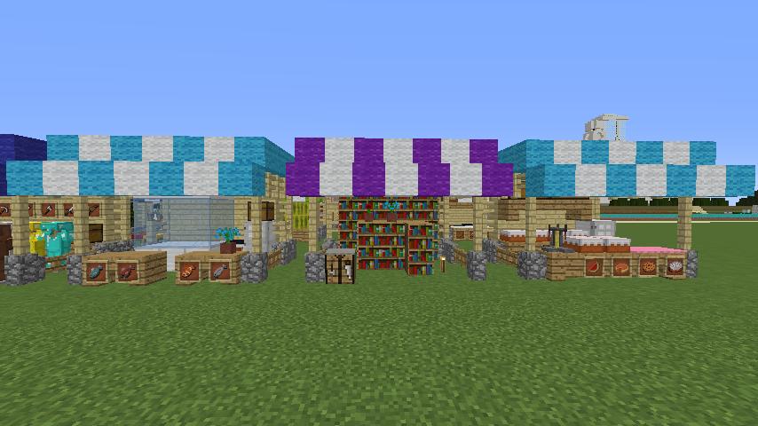 Minecrafterししゃもがマインクラフトでぷっこ村蚤の市の設営をお手伝いする11