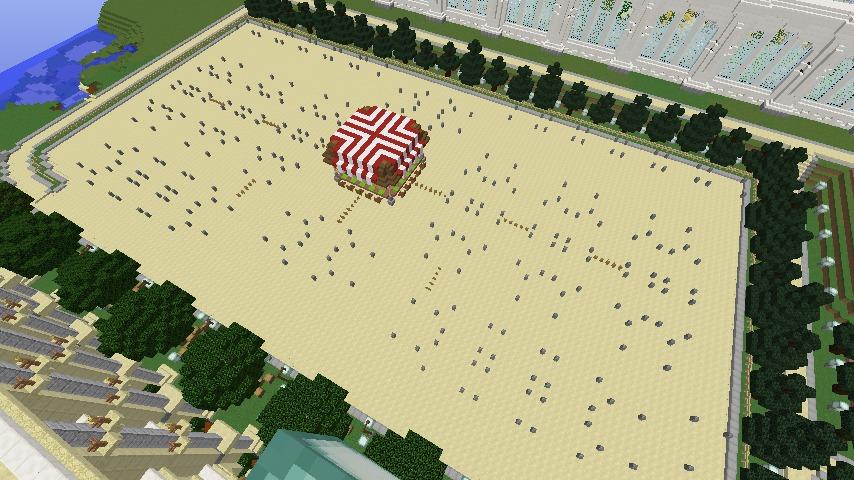 Minecrafterししゃもがマインクラフトでぷっこ村蚤の市の設営をお手伝いする3