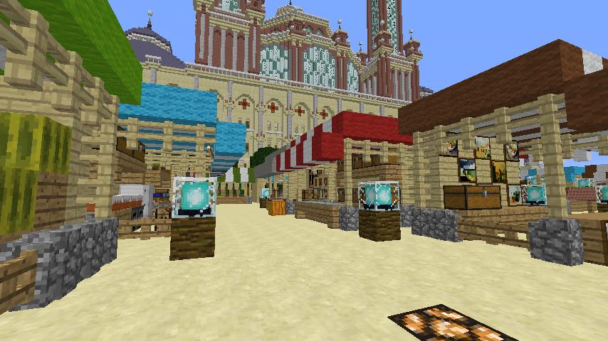 Minecrafterししゃもがマインクラフトでぷっこ村蚤の市の設営をお手伝いする5
