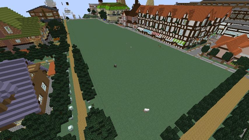 Minecrafterししゃもがマインクラフトでシルバニアファミリーの赤い屋根の大きなお家をつくる1