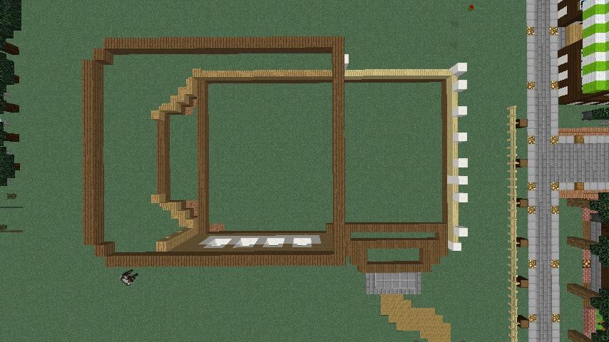 Minecrafterししゃもがマインクラフトでシルバニアファミリーの赤い屋根の大きなお家をつくる2