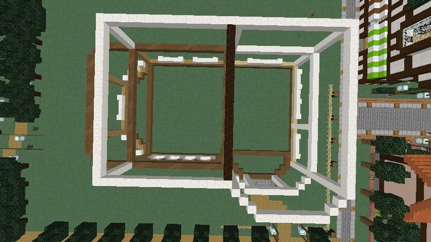 Minecrafterししゃもがマインクラフトでシルバニアファミリーの赤い屋根の大きなお家をつくる3