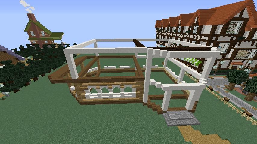 Minecrafterししゃもがマインクラフトでシルバニアファミリーの赤い屋根の大きなお家をつくる4