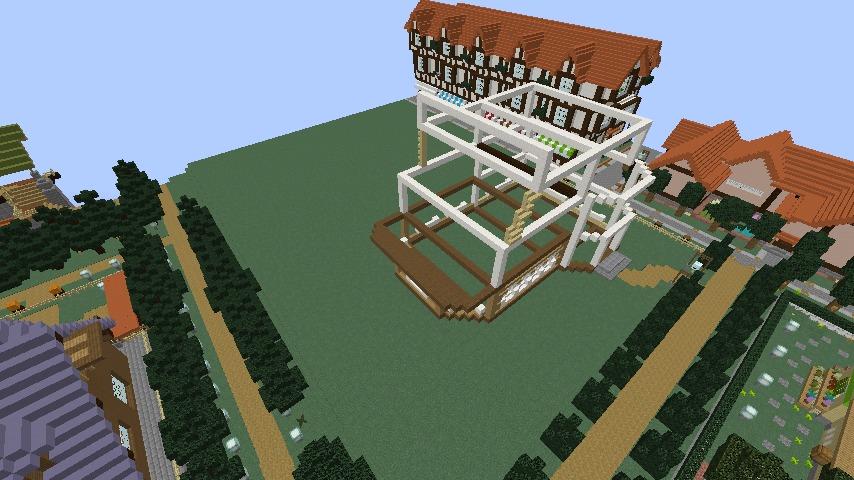 Minecrafterししゃもがマインクラフトでシルバニアファミリーの赤い屋根の大きなお家をつくる5
