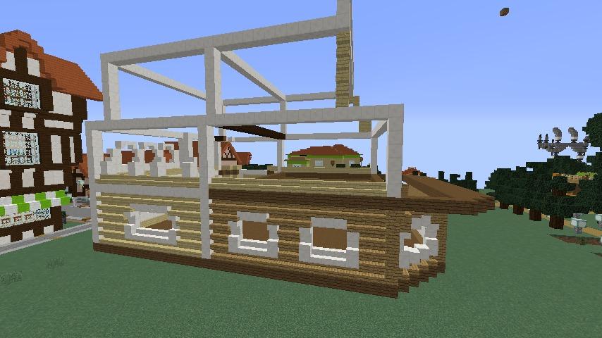Minecrafterししゃもがマインクラフトでシルバニアファミリーの赤い屋根の大きなお家をつくる6
