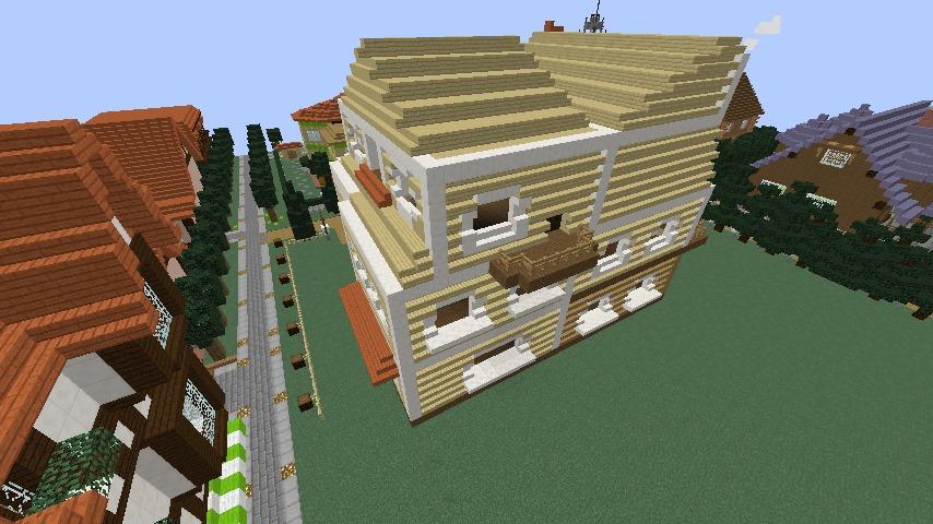 Minecrafterししゃもがマインクラフトでシルバニアファミリーの赤い屋根の大きなお家をつくる7