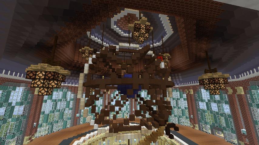 Minecrafterししゃもがマインクラフトでぷっこ村にトロカデロ宮殿をモデルにした博物館を建築する14