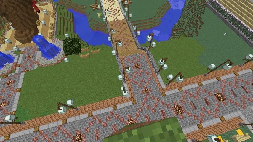 Minecrafterししゃもがマインクラフトでぷっこ村に石窯ピザ屋を作る2