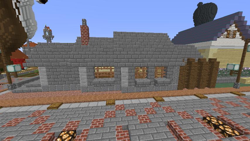 Minecrafterししゃもがマインクラフトでぷっこ村に石窯ピザ屋を作る4