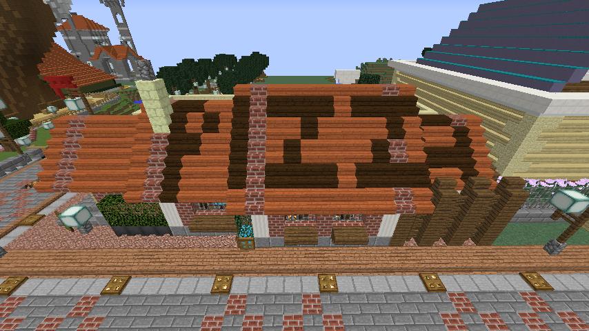 Minecrafterししゃもがマインクラフトでぷっこ村に石窯ピザ屋を作る5