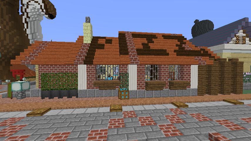 Minecrafterししゃもがマインクラフトでぷっこ村に石窯ピザ屋を作る6