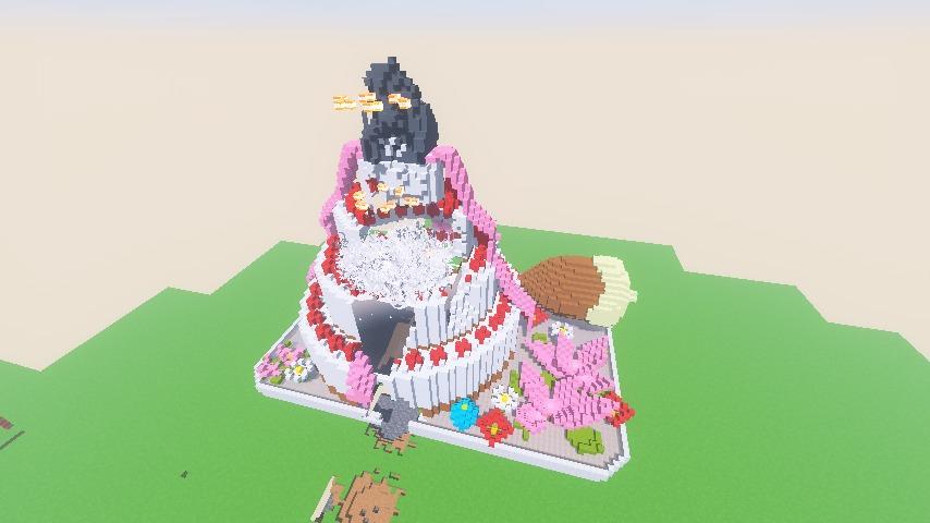 Minecrafterししゃもがマインクラフトで一生懸命作ったケーキをTNTで爆破する3