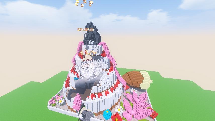 Minecrafterししゃもがマインクラフトで一生懸命作ったケーキをTNTで爆破する5