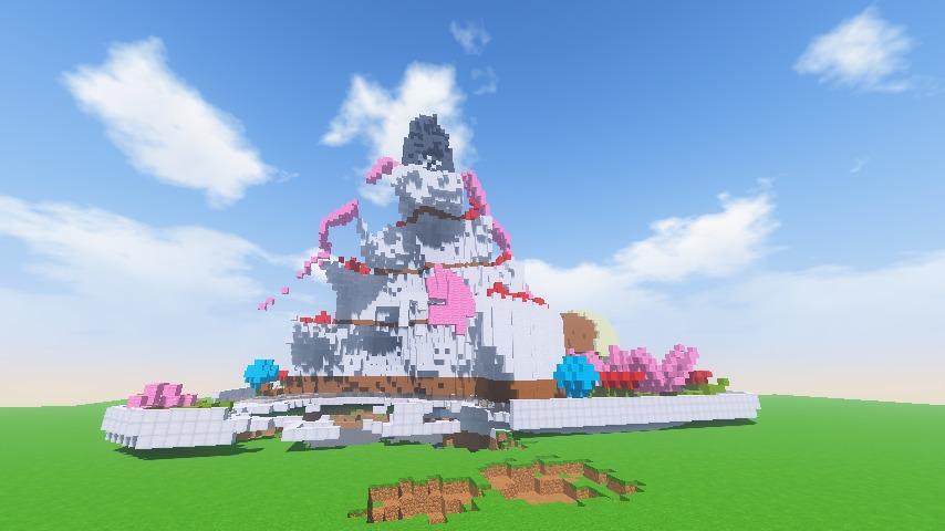 Minecrafterししゃもがマインクラフトで一生懸命作ったケーキをTNTで爆破する4