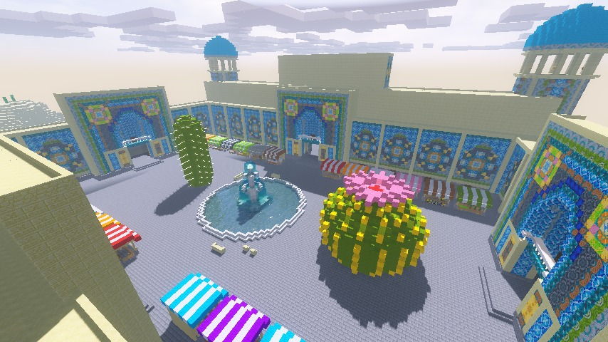 Minecrafterししゃもが執筆した建築物の紹介、マインクラフト超建築テクニック