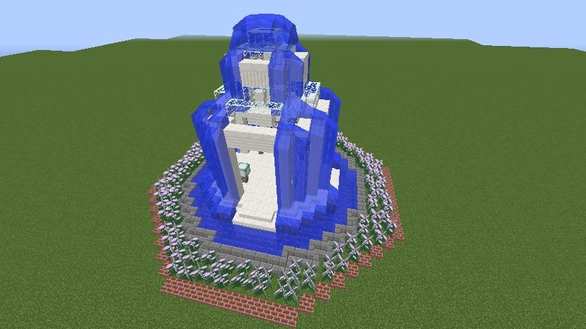 Minecrafterししゃもがマインクラフトでガゼボ風の噴水の作り方を紹介する9