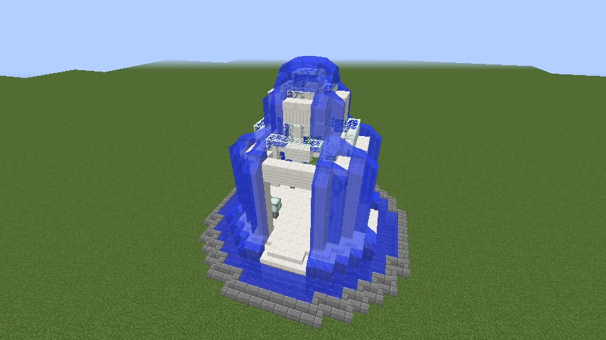 Minecrafterししゃもがマインクラフトでガゼボ風の噴水の作り方を紹介する8