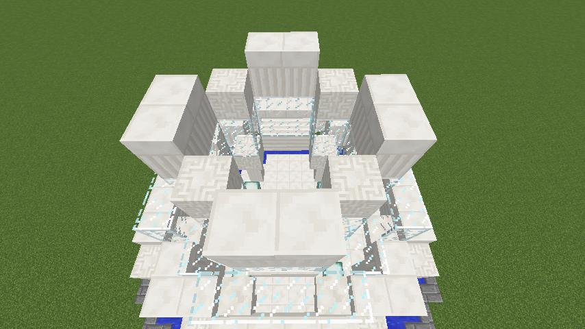 Minecrafterししゃもがマインクラフトでガゼボ風の噴水の作り方を紹介する6