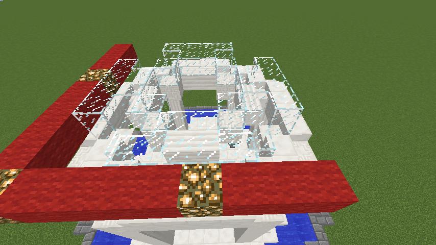 Minecrafterししゃもがマインクラフトでガゼボ風の噴水の作り方を紹介する2