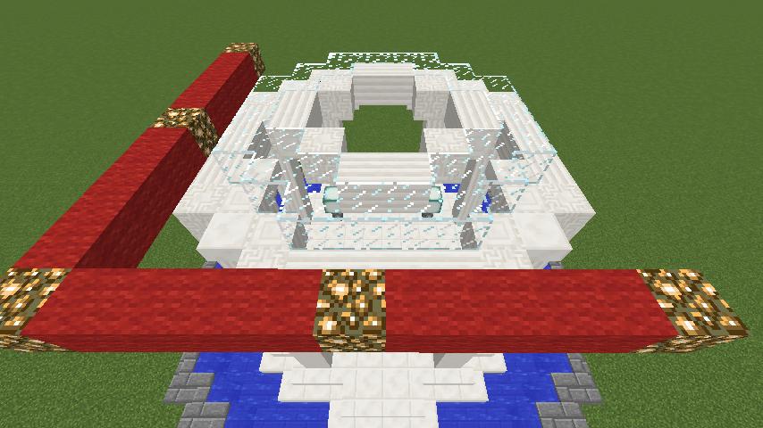 Minecrafterししゃもがマインクラフトでガゼボ風の噴水の作り方を紹介する14