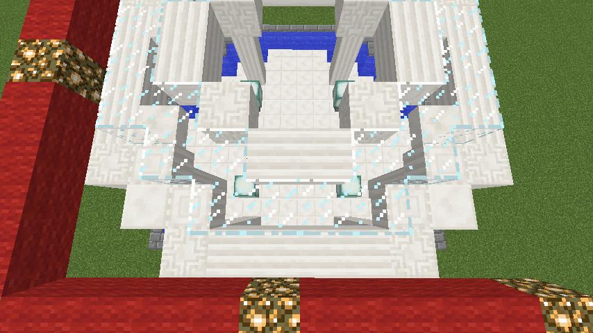 Minecrafterししゃもがマインクラフトでガゼボ風の噴水の作り方を紹介する13