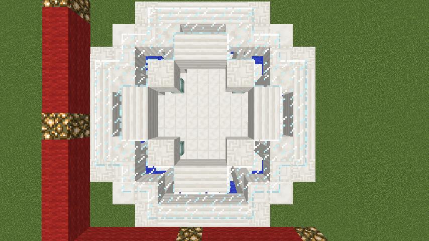 Minecrafterししゃもがマインクラフトでガゼボ風の噴水の作り方を紹介する12