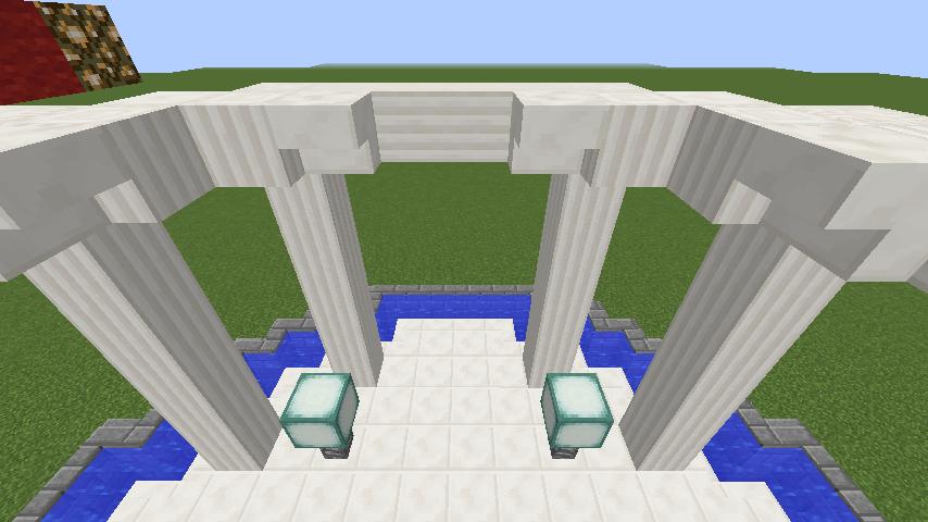 Minecrafterししゃもがマインクラフトでガゼボ風の噴水の作り方を紹介する10