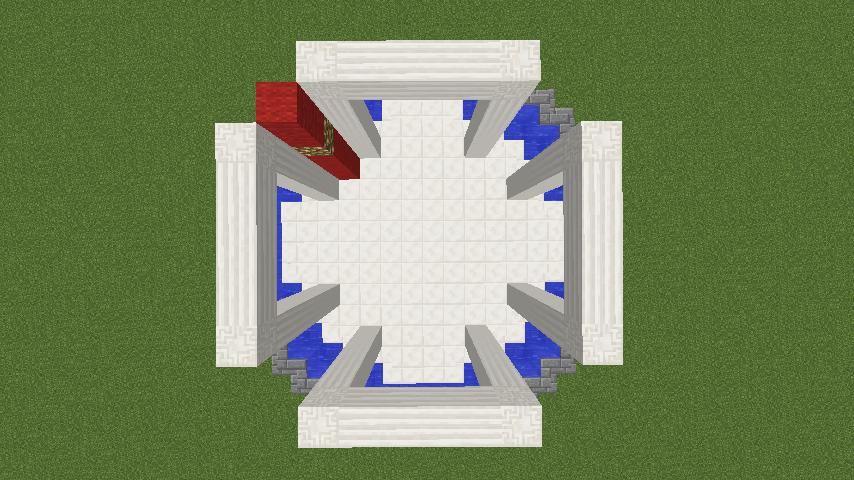 Minecrafterししゃもがマインクラフトでガゼボ風の噴水の作り方を紹介する7