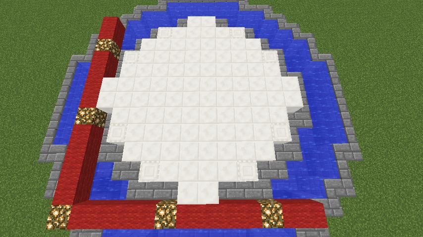 Minecrafterししゃもがマインクラフトでガゼボ風の噴水の作り方を紹介する5