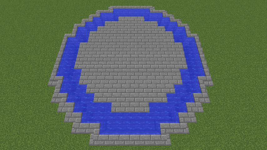 Minecrafterししゃもがマインクラフトでガゼボ風の噴水の作り方を紹介する4