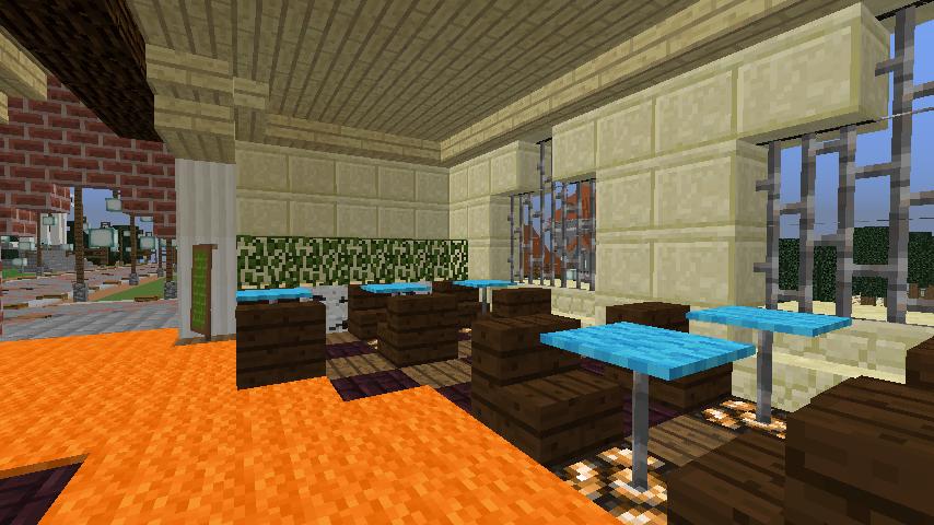 Minecrafterししゃもがマインクラフトでぷっこ村に石窯ピザ屋を作る8