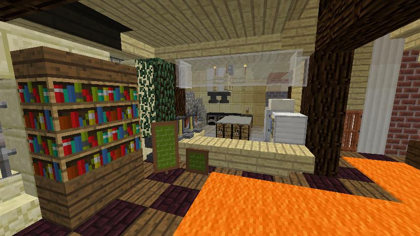 Minecrafterししゃもがマインクラフトでぷっこ村に石窯ピザ屋を作る7