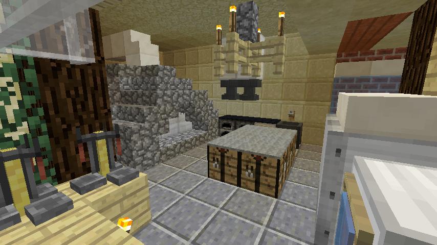 Minecrafterししゃもがマインクラフトでぷっこ村に石窯ピザ屋を作る9
